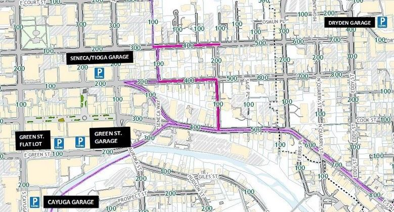 Street Parking Regulations Nyc Map.Garage Rates Hours Parkithaca